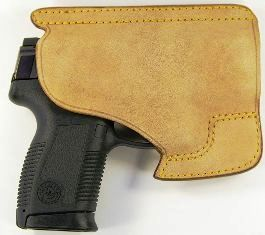 A Taurus PT145B .45ACP pistol in a Galco PH286 holster (Source:Hustvedt)