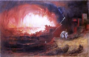 Sodom and Gomorrha, a painting by John Martin