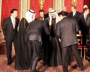 President Obama bowing to the Saudi Arabian king, April 2009