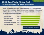 2012 Tea Party Straw Poll